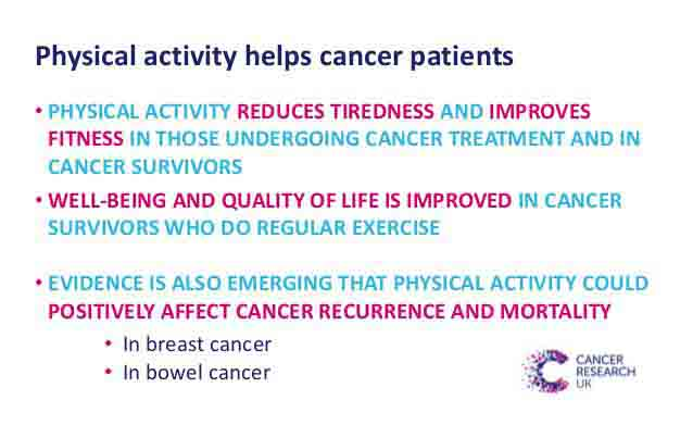 Physical activity helps cancer